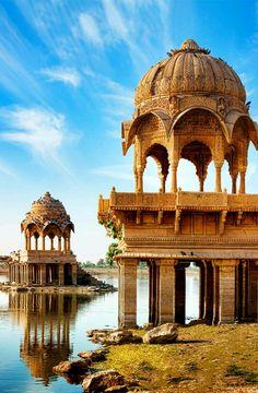 Gadi Sagar (Gadisar), Jaisalmer, Rajasthan, India