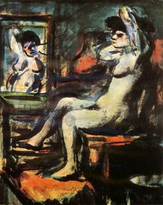 georges rouault paintings | Georges Rouault, Prostitute By The Mirror , 1906. Musee National d ...