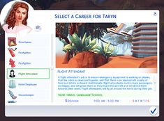 Lana CC Finds - marlynsims:   The Sims 4 Flight Attendant Career!...