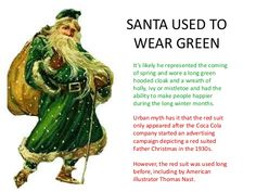 father christmas green - Google Search
