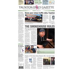 The front page of the Taunton Daily Gazette for Tuesday, Oct. 20, 2015.