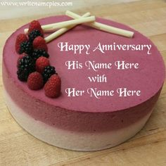 Wish a happy marriage anniversary to life partner with name. A very beautiful wedding anniversary cake with name to wish happy anniversary 25th Wedding Anniversary Wishes, Happy Marriage Anniversary Cake, Anniversary Cake Pictures, Anniversary Cake With Name, Anniversary Wishes For Friends, Anniversary Greetings, Cake Name, Cake Online, Cake Images