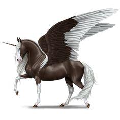 Winged unicorn Shetland Cremello