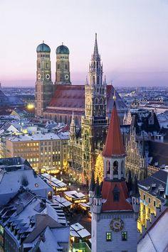 El Centro de Múnich · National Geographic en español. · LA MARIENPLATZ