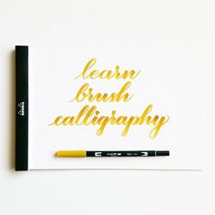 Learn How to Write Calligraphy - Freebie Finding Mom