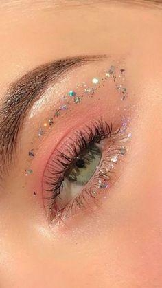 Edgy Makeup, Makeup Eye Looks, Eye Makeup Art, Cute Makeup, Pretty Makeup, Skin Makeup, Eyeshadow Makeup, Grunge Makeup, Glitter Makeup