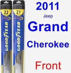Front Wiper Blade Pack for 2011 Jeep Grand Cherokee - Hybrid