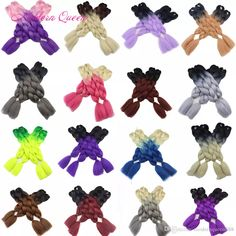 60 Colors Cheap Kanekalon Synthetic Braiding Hair 24inch 100g Ombre Two Tone Color Jumbo Braid Hair Extensions Jumbo Braids, Box Braids, Rope Twist, Braid In Hair Extensions, Braid Hair, Faux Locs, Synthetic Hair, Protective Styles, Braided Hairstyles