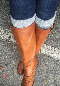 Womens light grey Knit Boot Cuff Womens Boot by ColoradoChickCo