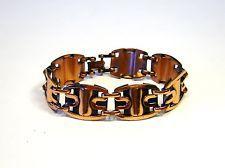 Vintage Mid Century 1950'S Signed RENOIR Copper Retro Link Modernist Bracelet