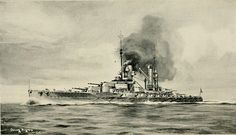 """SMS König was the first of four König class dreadnought battleships of the German Imperial Navy during World War I. König (Eng: """"King"""") was named in honor of Kaiser Wilhelm II of Germany. Laid down in October 1911, the ship was launched on 1 March 1913. Construction on König finished shortly after the outbreak of World War I; she was commissioned into the High Seas Fleet on 9 August 1914."""