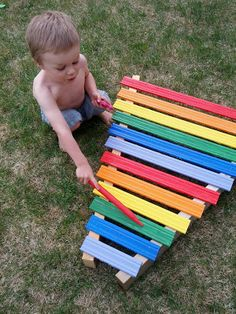 DIY Homemade Rainbow Xylophone