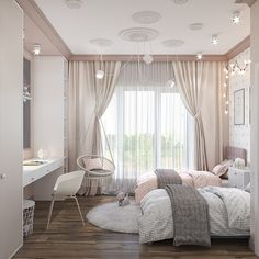 Teen Bedroom Designs, Room Design Bedroom, Bedroom Decor For Teen Girls, Room Ideas Bedroom, Home Room Design, Small Room Bedroom, Home Decor Bedroom, Teen Girl Rooms, Twin Girl Bedrooms