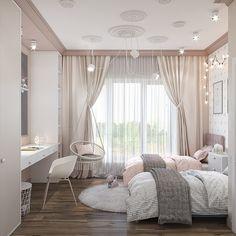 Kids Bedroom Designs, Room Design Bedroom, Room Ideas Bedroom, Home Room Design, Small Room Bedroom, Home Decor Bedroom, Twin Girl Bedrooms, Bedroom Decor For Teen Girls, Jugendschlafzimmer Designs