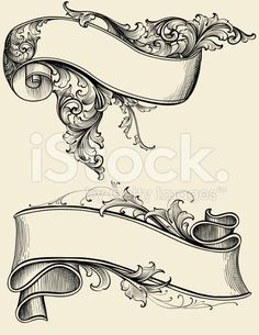 Ribbon and Scroll royalty-free stock vector art