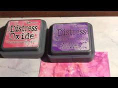 (5) Tim Holtz Distress Oxide on Glossy Paper - Creativation 2018 - YouTube