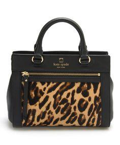 Look what I found on #zulily! Black & Leopard Mini Romy Perri Lane Calf Hair Satchel #zulilyfinds