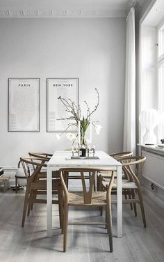 Minimalist gray dining