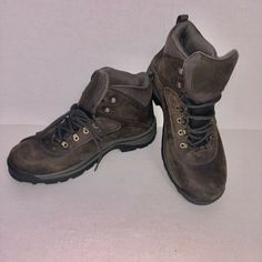 0b790e89ba0b Details about Timberland Mens Dark Brown Hiking Boots Size 13W