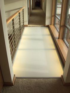 Glass Walk Floor System Glass Walkway, Glass Bridge, Translucent Glass, Glass Floor, Milk Tea, Glass House, Frosted Glass, Patio Ideas, Townhouse