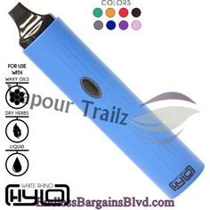 Vapour Trailz-Vaporizer Outlet - White Rhino Hylo Vaporizer, $204.99 (http://www.endlessbargainsblvd.com/white-rhino-hylo-vaporizer/)Features: 8 Available Colors Zero Combustion Variable Heat Setting (374°-410°F) 45 Second Heat-Up Time 1.5 hr Charge Time Micro USB Charge Port 3-Click Locking Mechanism Compatible With Herbs/Concentrates Accessories (Included): 1 x Vaporizer Stand 1 x Mouthpiece 1 x Waxy Oil Bowl 1 x Dry Herb Bowl 1 x Oil Bowl 1 x Packing Tool 1 x Tweezers 1 x Micro USB…