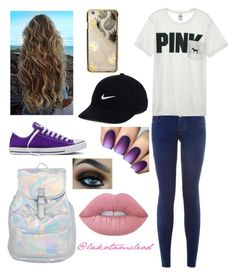 """Typical Teen"" by lakotamcleod on Polyvore featuring New Look, Victoria's Secret, Skinnydip, NIKE, Converse and Lime Crime"