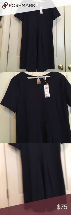 NWT navy bcbgeneration dress New w/ tags navy bcbgeneration dress! Great cutout in back! Never worn! size L color is outstanding! From smoke free home! Thank you for shopping my closet have a great day BCBGeneration Dresses Midi