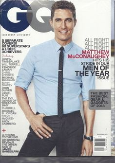 Matthew McConaughey GQ Magazine Dec 2013 Justin Timberlake Will Ferrell SEALED