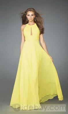 vestidos de noche amarillos - Buscar con Google