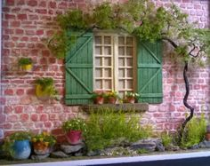 Dollhouse Miniature House Diorama Shadowbox Art by ModartDiorama