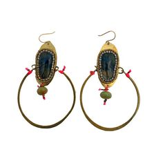De Petra signature drop earrings