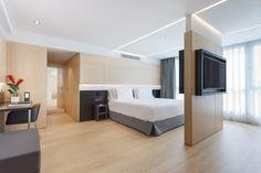 Vista general de la habitación piloto del nuevo hotel del Grupo Hotusa en la Ronda Universitat de Barcelona