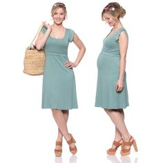 Viva la Mama   Nursing dress BELLA (mint/white polka-dots). This wonderful knee-length breastfeeding dress charms everybody with its beautifully cut and color. BELLA is perfect for discreet nursing and can be varied for different occasions, from elegant to casual.