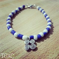 Beaded Hmong Motif Charm Bracelet via TGXC. Click on the image to see more!