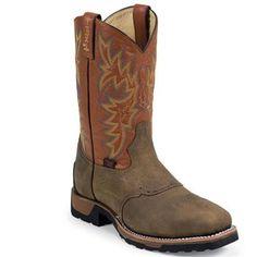 Tony Lama Men's TLX Steel Toe Saddle Vamp Western Work Boots