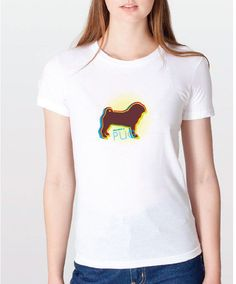 Is there really gold at the end of a #rainbow? There is if you have been #rescued by a #Pug! Righteous Hound - Women's Rainbow Pug Tee, $24.00 (http://www.righteoushound.com/womens-rainbow-pug-tee/)