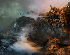 miniature worlds.. created in a fish tank. kim keever
