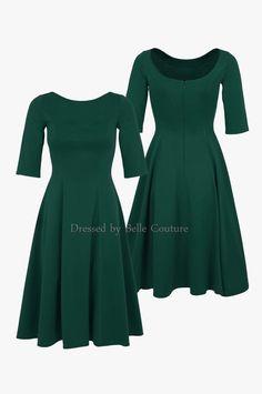 """Knielange Kleider - puristisches Jerseykleid """"Luisa"""" Herbst/Winter - ein…"""