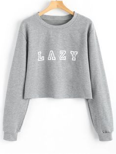 Drop Shoulder Letter Graphic Pattern Sweatshirt