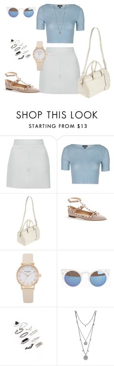 """Untitled #248"" by charlotte-down on Polyvore featuring Topshop, Yves Saint Laurent, Valentino, Quay and Vince Camuto"