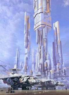 The City where she came from was small, more advanced in technology then on earth