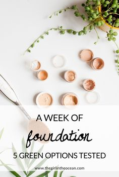 Finding a good foundation can be so hard! I spent a week testing 5 green eco friendly foundation options to see which worked the best. Homemade Mascara, Foundation 5, Ocean, Beauty, The Ocean, Beauty Illustration, Sea