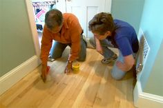 This Old House general contractor Tom Silva shows the proper and safe way to remove an old finish from a hardwood floor