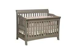 """Berkley Collection Crib in Brown Maple  55 1/2w"""" x 44 1/2""""h x 35"""" d  Converts to a toddler bed then converts to a double bed"""