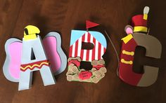 Dumbo Custom 8 inch paper mache letters by TheNevertreeHideaway - Baby Nursery Today Dumbo Birthday Party, Circus First Birthday, Baby First Birthday, Baby Party, Birthday Ideas, Dumbo Baby Shower, Boy Baby Shower Themes, Baby Shower Parties, Carnival Themed Party