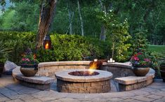 7 Fine Cool Tips: Tabletop Fire Pit Outdoor fire pit backyard back yards.Fire Pit Wood How To Make simple fire pit stones.Large Fire Pit Home. Sunken Fire Pits, Diy Fire Pit, Fire Pit Backyard, Sunken Patio, Cozy Backyard, Backyard Fireplace, Fireplace Outdoor, Modern Backyard, Gazebo