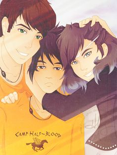The children of the big three... Percy Jackson, Nico Di Angelo, and Thalia Grace