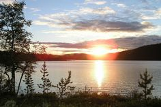 """Midsummer is a national holiday in Finland and is celebrated as the height of summer and an ode to light. Finns like to spend their """"Juhannus"""" in a setting like this. Future Days, Lapland Finland, Lappland, Midnight Sun, Sunrise, Beautiful Places, Scenery, Landscape, Nature"""