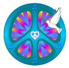 music peace sign dove design