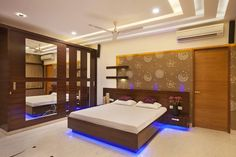 Bedroom modern style bedroom by ansari architects modern Gypsum Ceiling Design, Ceiling Design Living Room, Bedroom False Ceiling Design, Luxury Bedroom Design, Bedroom Closet Design, Bedroom Furniture Design, Bedroom Ceiling, Bad Room Design, Double Bed Designs